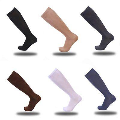 Cotton Nylon Knee High Socks - Girls Ladies White Knee High Socks Thigh Women 3 Color Long Cotton Stockings