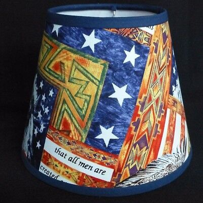 Custom Made Lamp Shades - Patriotic Custom Made Handcrafted Lamp Shade 6 x 10 x 8 Life Liberty