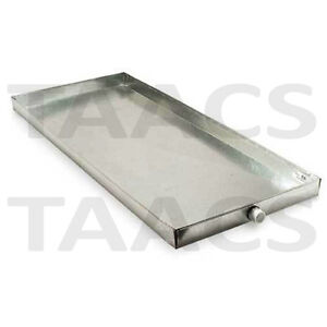 Galvanized Metal Drain Pan For Evaporator Coils Laundry