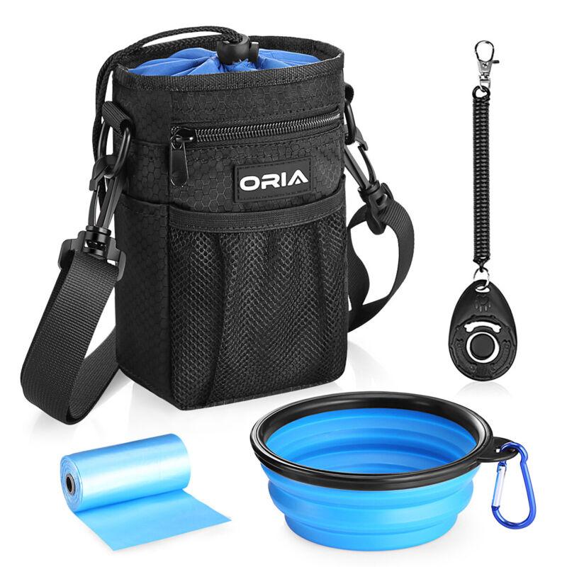 Blue_Pet Dog Cat Puppy Training Treat Belt Pocket Bag Feed Bait Food Snack Pouch