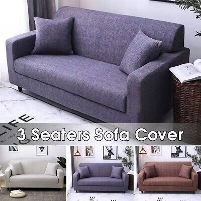 3 Seater Stretch Elastic Sofa Cover Polyester Fabric Slipcov