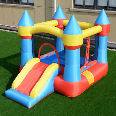 Inflatable Castle - Inflatable Mighty Bounce House Jumper Castle Moonwalk Slide Without Blower