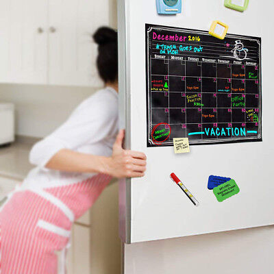 Dry Erase Calendar Refrigerator (Magnetic Dry Erase Calendar Blank Board For Refrigerator With Marker and)