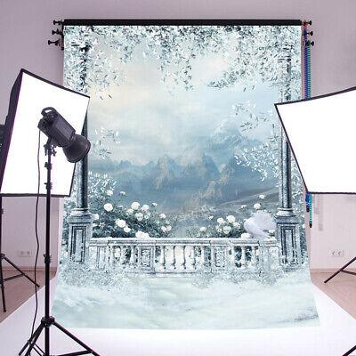 Fotostudio Hintergrund 0,9mx1,5m Fotohintergrund Schnee Winter Hintergrundstoff ()