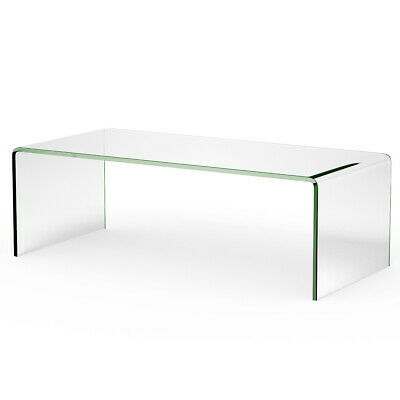 Tempered Glass Coffee Table Accent Cocktail Side Table Living Room Furniture