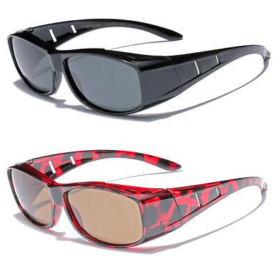 Medium POLARIZED Sunglasses FIT OVER Prescription RX Eye glasses for Men Women