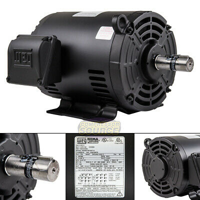5 Hp 3 Phase Air Compressor Duty Electric Motor 1824t Frame 3510 Rpm 3ph Weg