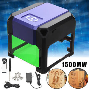 1500mW USB Laser Engraver Printer Cutter Carver Logo DIY Mark Engraving Machine!