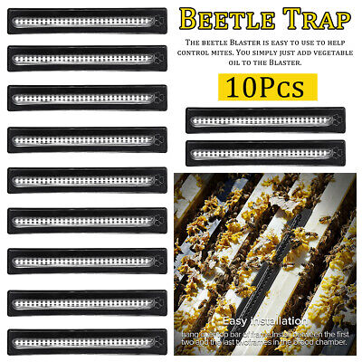 10x Small Bee Hive Beetle Blaster Beehive Trap Beekeeping Equipment Tool Durable
