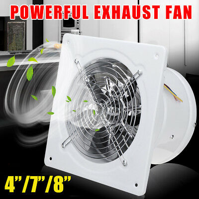 4/7/8'' High Speed Industrial Exhaust Fan Ventilation Extrac