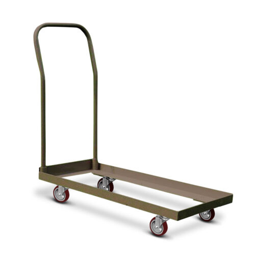 TentAndTable Steel Chair Cart Storage Brown Dolly 50 Folding Chair Capacity