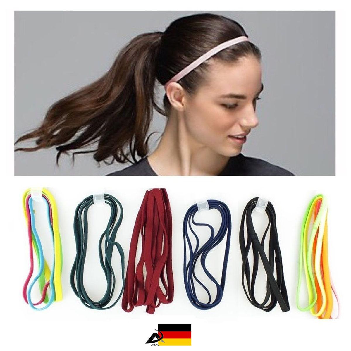 2x Haarband Stirnband Stretch Bänder Gymnastik Elastisch Band Yoga Sport Band