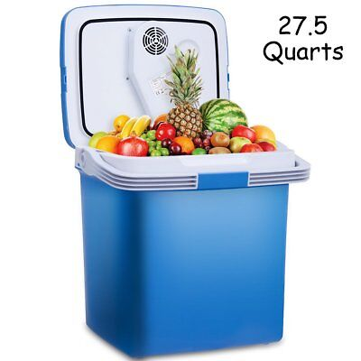 Portable Fridge Cooler and Warmer 27.5 Quarts Electric Mini Thermoelectric Dual