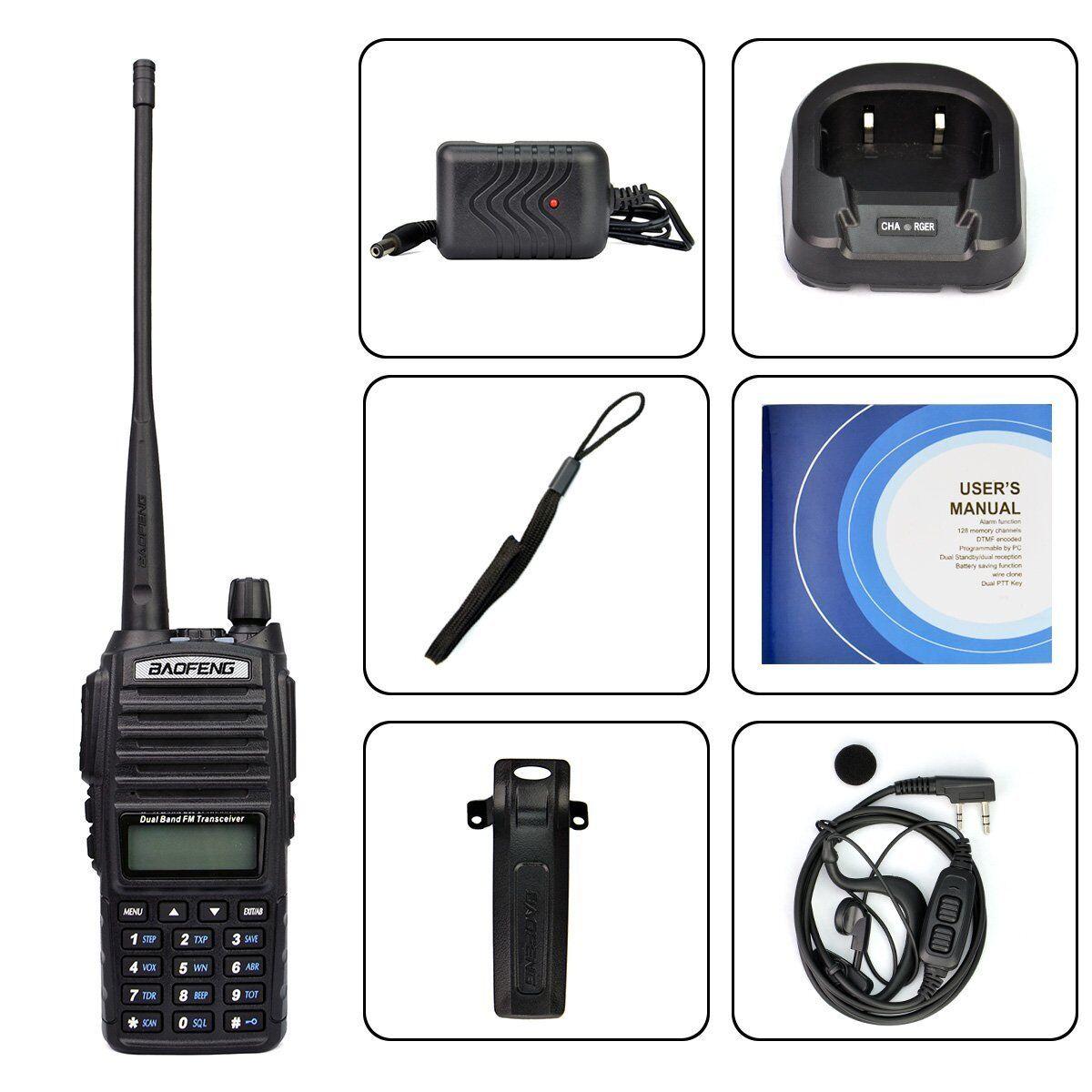 Uv 82 Handheld Radio Scanner Ham Two-way Walkie Talkie Tr...