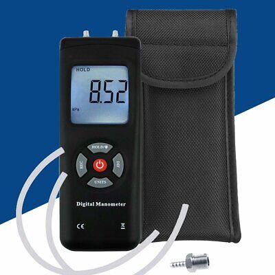 Handheld Portable Manometer Air Vacuum Gas Pressure Gauge Meter W