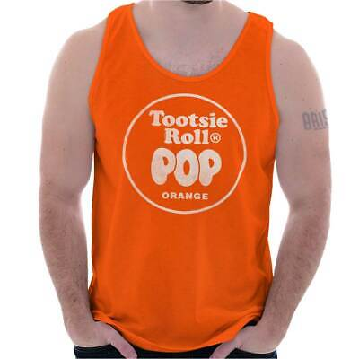 Vintage Tootsie Roll Pop Orange Lollipop Logo Adult Tank Top T-Shirt Tees - Orange Lollipop