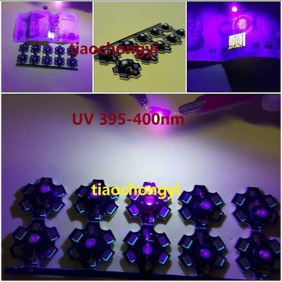 10pcs 3w Purple Uvultra Violet 395nm400nm High Power Star Led Light For Tank