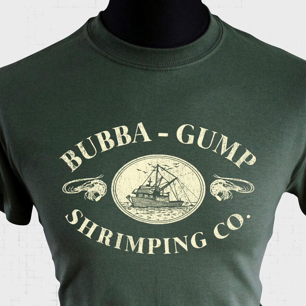 Bubba Gump crevettier Co T Shirt Forrest Gump exécuter le capitaine Dan crevette 1994 bleu