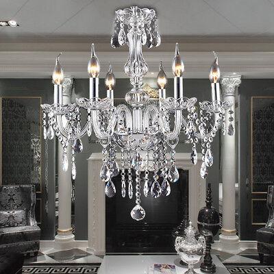 E12 Elegant Crystal Candle Decoration Chandelier Pendant Ceiling Light  6 Lamp - Chandelier Decoration