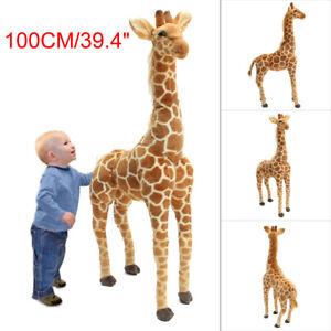 US 40'' Big Plush Giraffe Toy Doll Giant Large Stuffed Animal Soft Doll Kid Gift