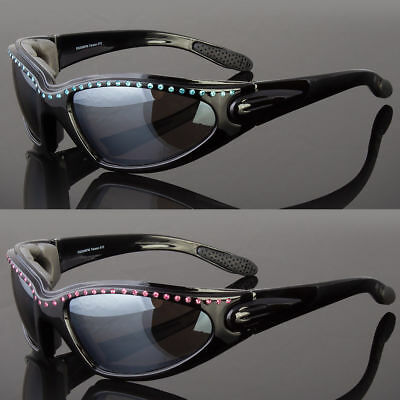 Padded BIKER Motorcycle Safety Sunglasses Wind Proof Riding Glasses (Proofs Sunglasses)