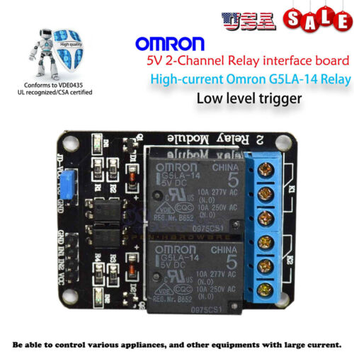NEW 2-Channel Opto-Isolated Relay Module Low Trigger 5V Arduino / Raspberry PI