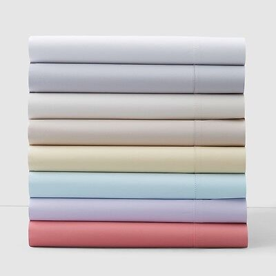 Sky Solid 550 Thread Count King Fitted Sheet Ivory T562