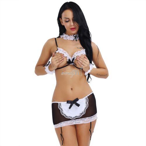 Teaching sissy to wear lingerie