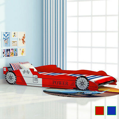 nnwagen Design 90x200cm Autobett Jugendbett Bett Rot/Blau (Rennwagen-design)