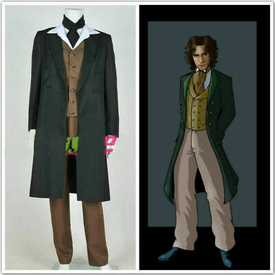 Doctor Who 8th Dr Paul McGann Cosplay Costume Suit Outfit Halloween Costume A451 - Doctor Who Halloween Outfit