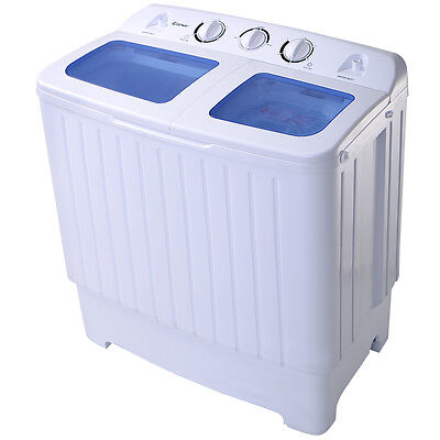 Goplus Manageable Mini Compact Twin Tub 17.6lb Washing Machine Washer Spin Spinner