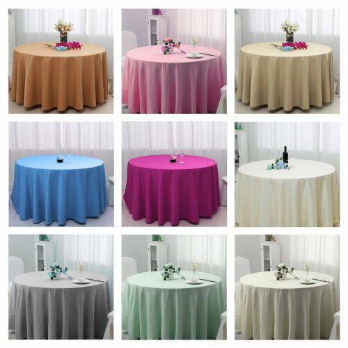 Weeding Round Polyester Fiber Tablecloth Banquet Home Table