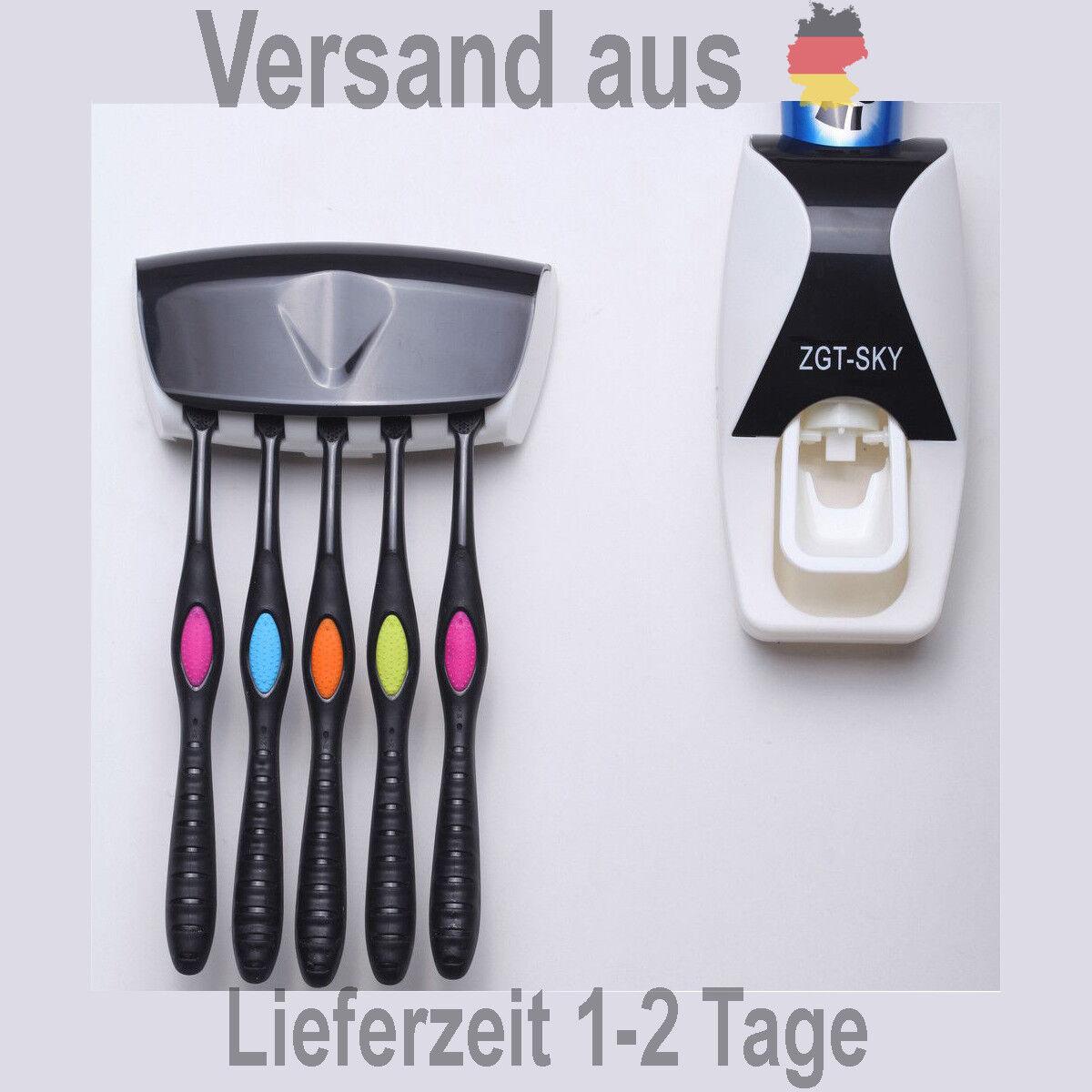 Automatische Zahnpasta Zahnpastaspender inkl. Zahnbürstenhalterung in 5 Farben