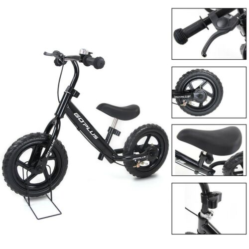 "Kid Toddler Children 12"" Balance Bike Bicycle Stroller Scooter w/Brakes & Bell"