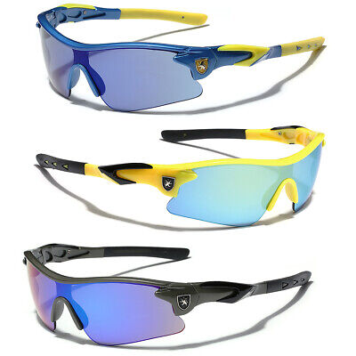 Ages Framed (Khan Half Frame Kids Teen Age 8-16 Boys Youth Cycling Sport Baseball Sunglasses )