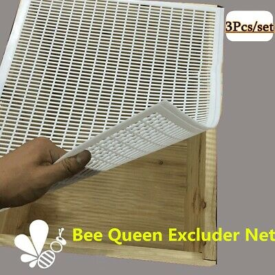 3x 10-frame Bee Queen Honey Excluder Trapping Net Grid Beekeeping Tool Equipment