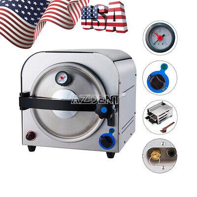Dental Medical Autoclave 14l Steam Sterilizer Sterilization Lab Equipment Gift