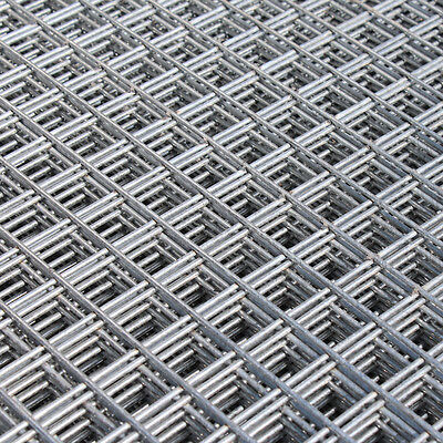 2x Welded Wire Mesh Panels 1.2x2.4m Galvanised 4x8ft Steel Sheet Metal 1