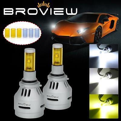 Broview P3 9006 HB4 LED Headlight Conversion Kit 40W 4000LM 3 Color Light Bulb