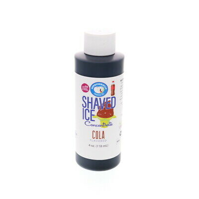 Cola Hawaiian Shaved Ice And Snow Cone Unsweetened Flavor Concentrate 4 Fl Oz