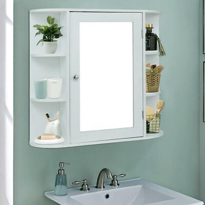Wall Mount Bathroom Cabinet Storage Organizer Medicine Cabinet Kitchen White