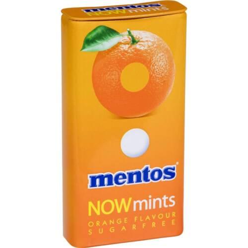 Mentos Now Mints Orange Sugar Free Mints 12 Tins