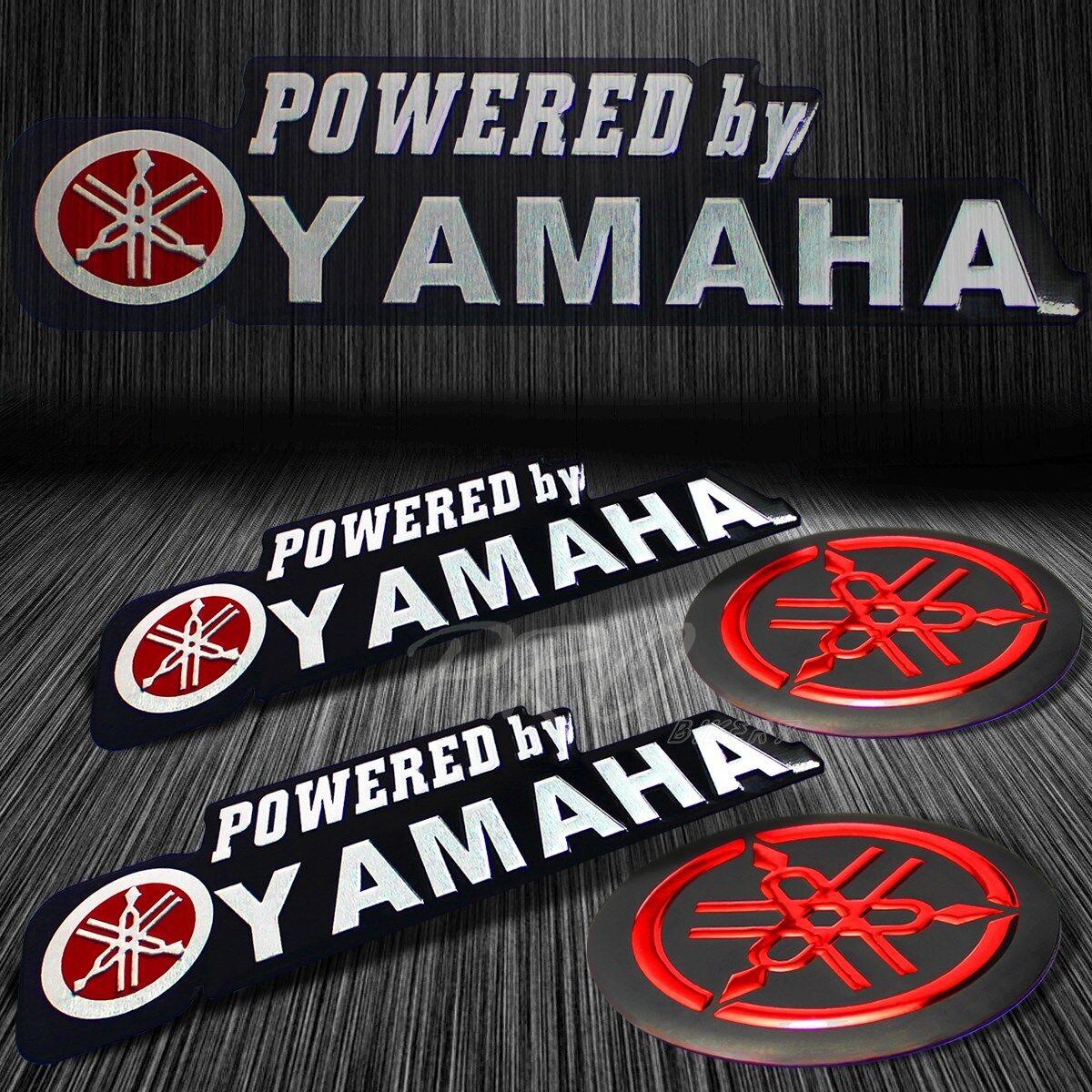 Details about metal 3d brushed chrome logo letter emblem red fairing sticker for yamaha decal
