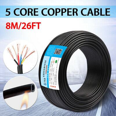 8m 5 Core Rvv Copper Cable 0.5mm Flame Retardant Pvc Sheathed Electric Wire