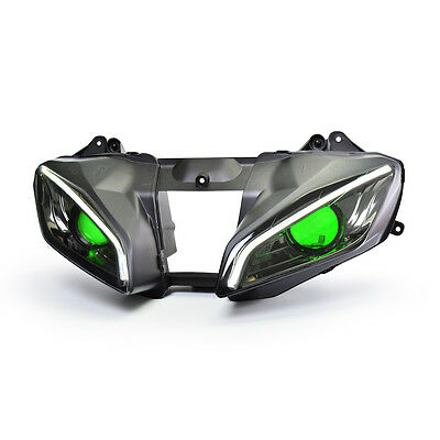 KT LED  Headlight Assembly for Yamaha YZF R6 2008- 2016 Green