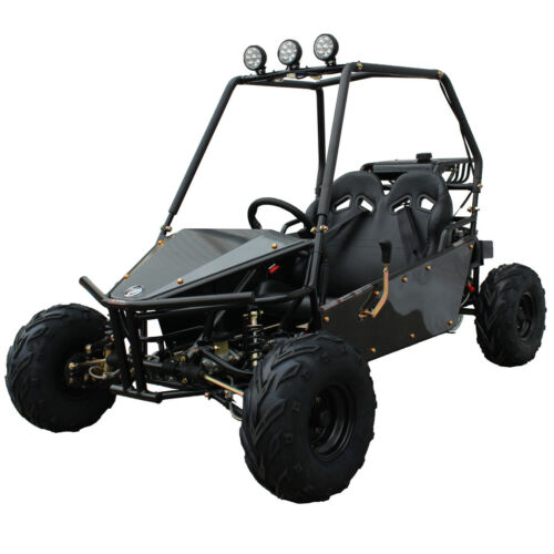 New Massimo Go Kart 125cc GKM-125 Automatic Transmission w/Reverse in Black