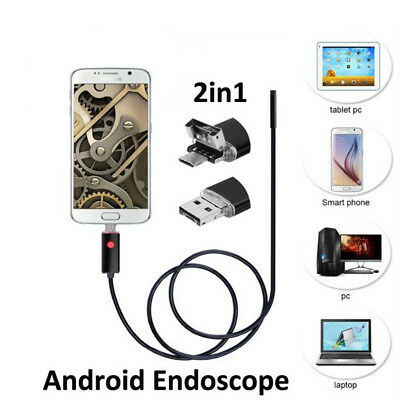 10m 5.5mm Android Endoscope Waterproof Snake Borescope Usb Inspection Camera B2