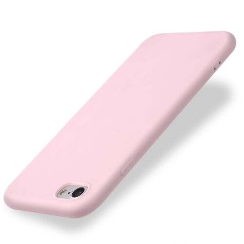 For iPhone 5 6 7 8 XS XR Shockproof Thin Soft TPU Silicone Matte Back Case Cover