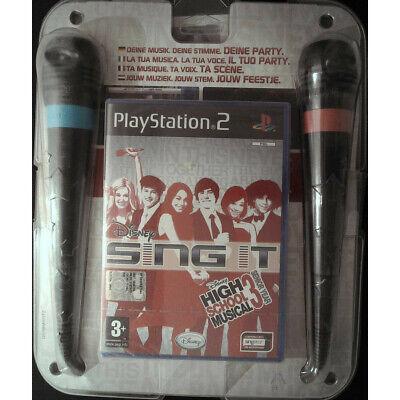 Disney Cantar En High School Musical 3 Micrófonos PLAYSTATION 2 PS2 Sellado