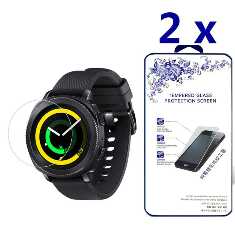 2-Pack For Samsung Gear Sport Smartwatch Tempered Glass Screen Protector